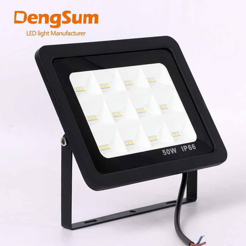 [DENGSUM] reflector LED 30W 50W 100W 150W Ultra delgado Led reflector de luz de inundación al aire libre 220V IP66 lámpara de pared al aire libre Luz de inundación
