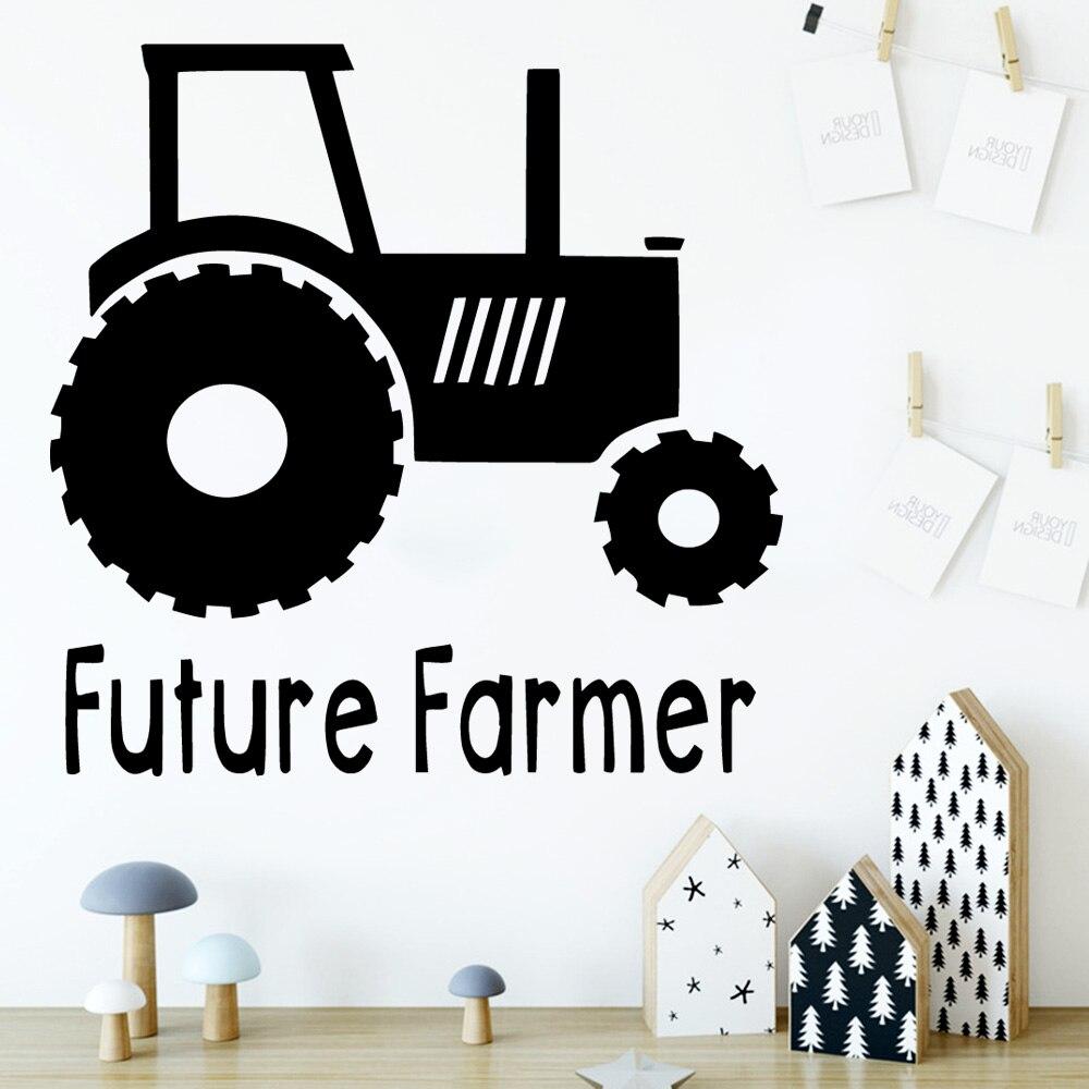 Adhesivo de vinilo creativo para el futuro de granjero, pegatinas decorativas para el hogar, pegatinas para la pared de la habitación de los niños y la sala de estar, decoración del hogar