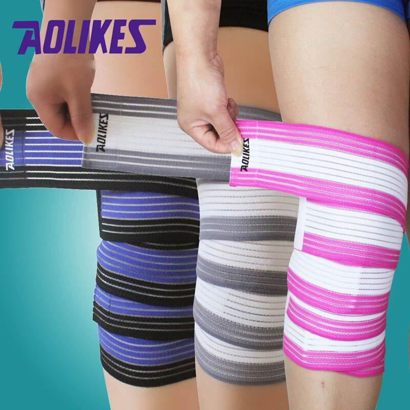 AOLIKES 1PCS 180*7.5CM/120*7.5CM Elastic Bandage Knee Elbow Bandage Sport Tape Joelheira Cotoveleira Vendas Para Deporte