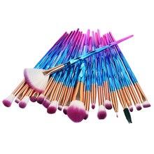 20pcs Professional Eye Shadow Contour Concealer Makeup Brushes Set Diamond Powder Foundation Tool brow lip brush drop shipping