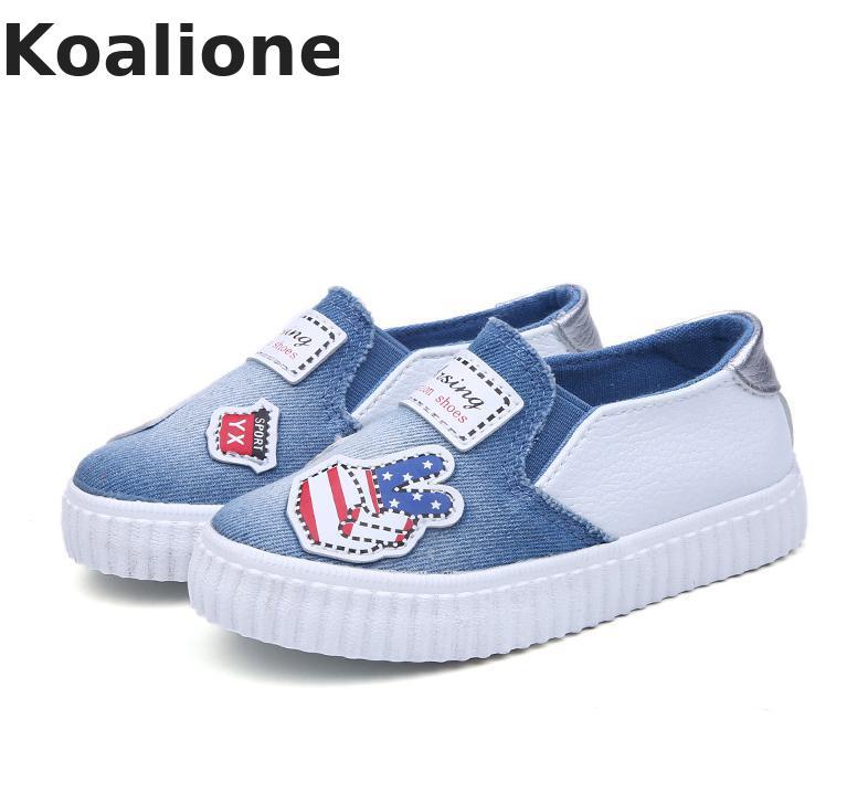 Zapatos para niños, zapatos de tela vaquera, zapatillas de lona, calzado informal para niños y niñas, Calzado Infantil, mocasines de estudiante con diseño impreso
