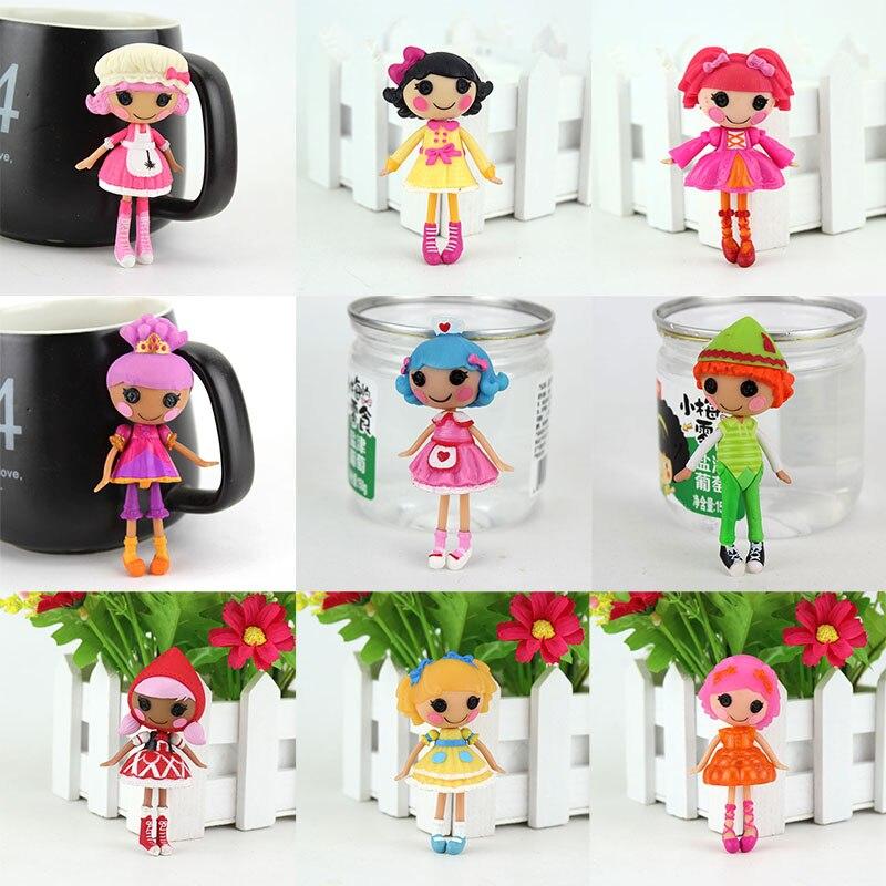 9 unids/set de Mini muñecas Lalaloopsy MGA originales de 3 pulgadas para jugar en juguetes de niña