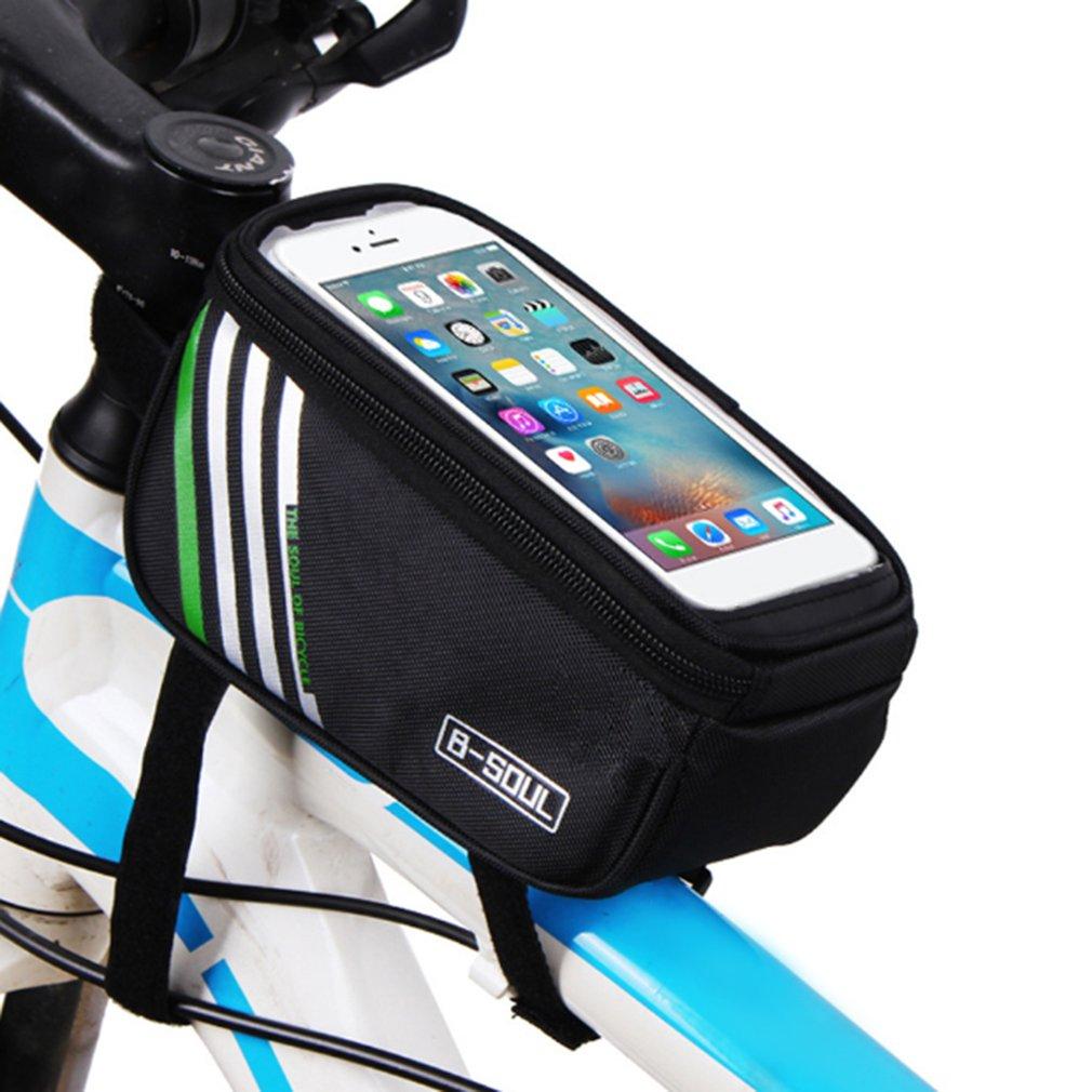 B-SOUL bicicleta bolsa del teléfono móvil de 5,7 y 5 pulgadas de pantalla táctil de la parte superior del marco de tubo de almacenamiento de bolsa de Ciclismo MTB Carretera bicicleta o motocicleta