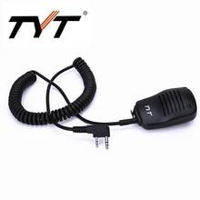 100% Original TYT Speaker Microphone for DM-UVF10 TH-UV9 TH-UV8000D MD-380 MD-UV380 MD-390 MD-UV390 Walkie Talkie With K plug