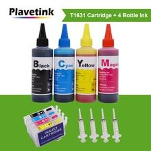 Чернильный картридж Plavetink 16XL T1631 для Epson WorkForce WF2520 WF2530 WF2540 WF2650 WF2660 WF2750 WF2760 + 4 цвета 100 мл чернила для бутылок
