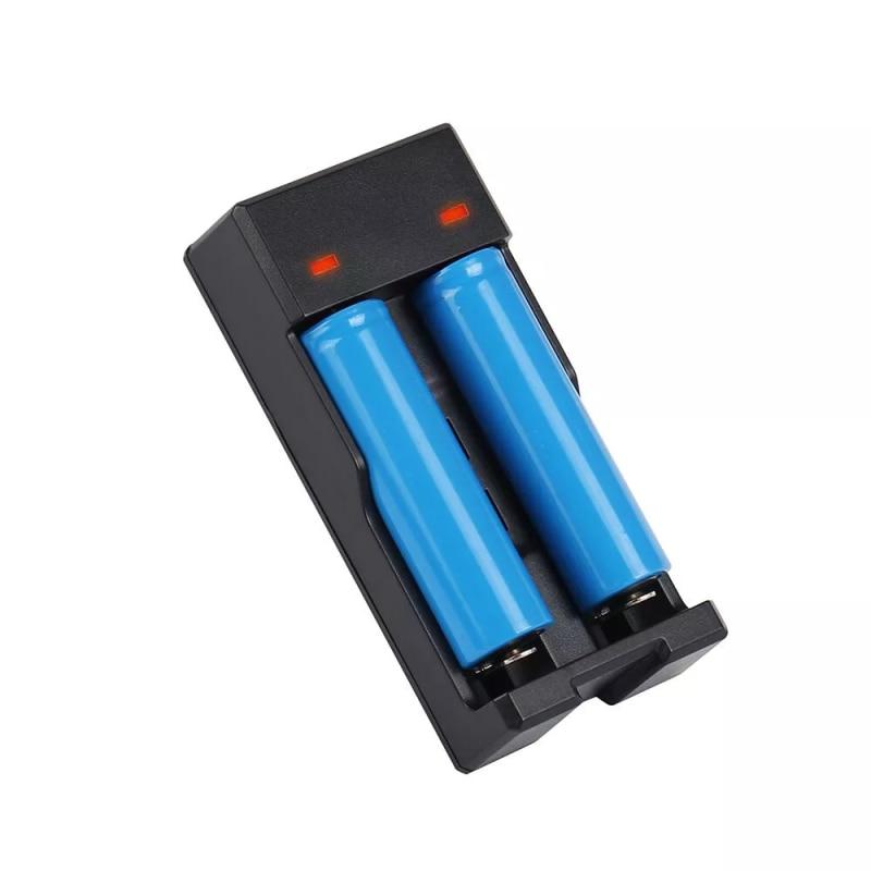 2 pcs preço barato dupla baía micro 5 pin 18650 18500 18490 carregador de bateria de lítio