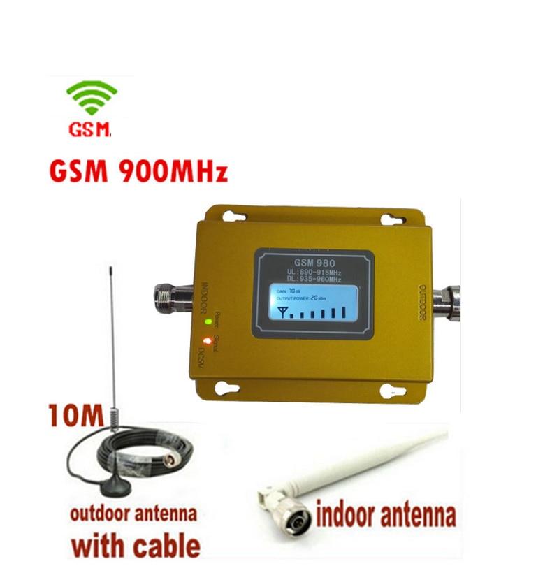Conjunto completo gsm 900 mhz sinal de telefone celular impulsionador display lcd repetidor gsm amplificador de sinal com antena gsm repetidor kits 17dbm