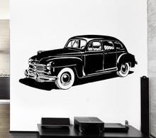 Cool Wheel Vehicle Leather Reto Carc Wall Sticker Vinyl Classic Home Living Room Decor Wall Mural Art Design Car Wallpaper Y-811