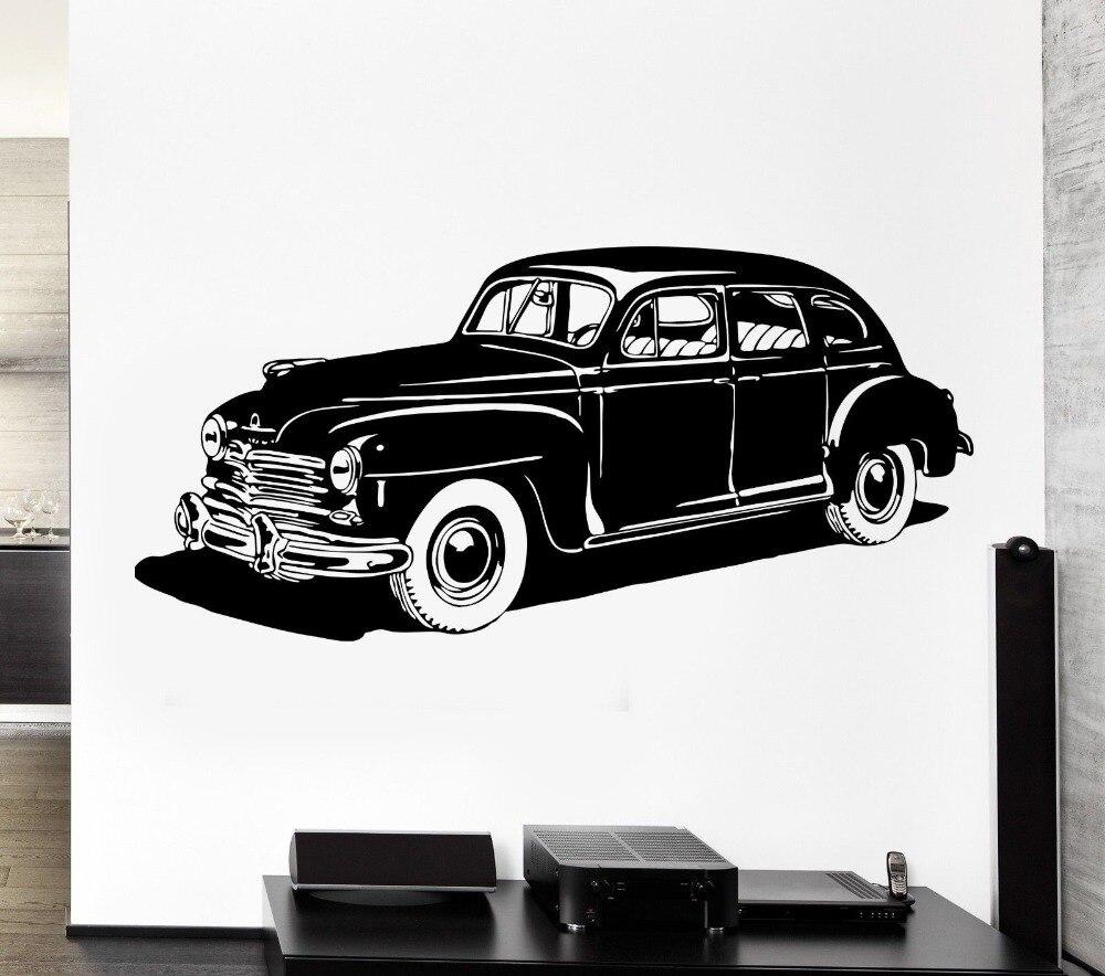 Legal roda veículo couro reto carc adesivo de parede vinil clássico casa sala estar decoração da parede mural arte design do carro papel de parede Y-811