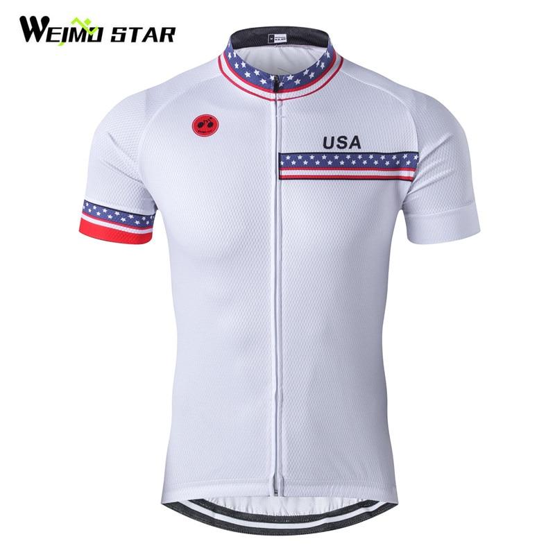 Weimostar camiseta de ciclismo para hombre 2018 Pro Team USA ropa de Ciclismo de carreras deporte verano transpirable MTB Bike Jersey ropa de bicicleta