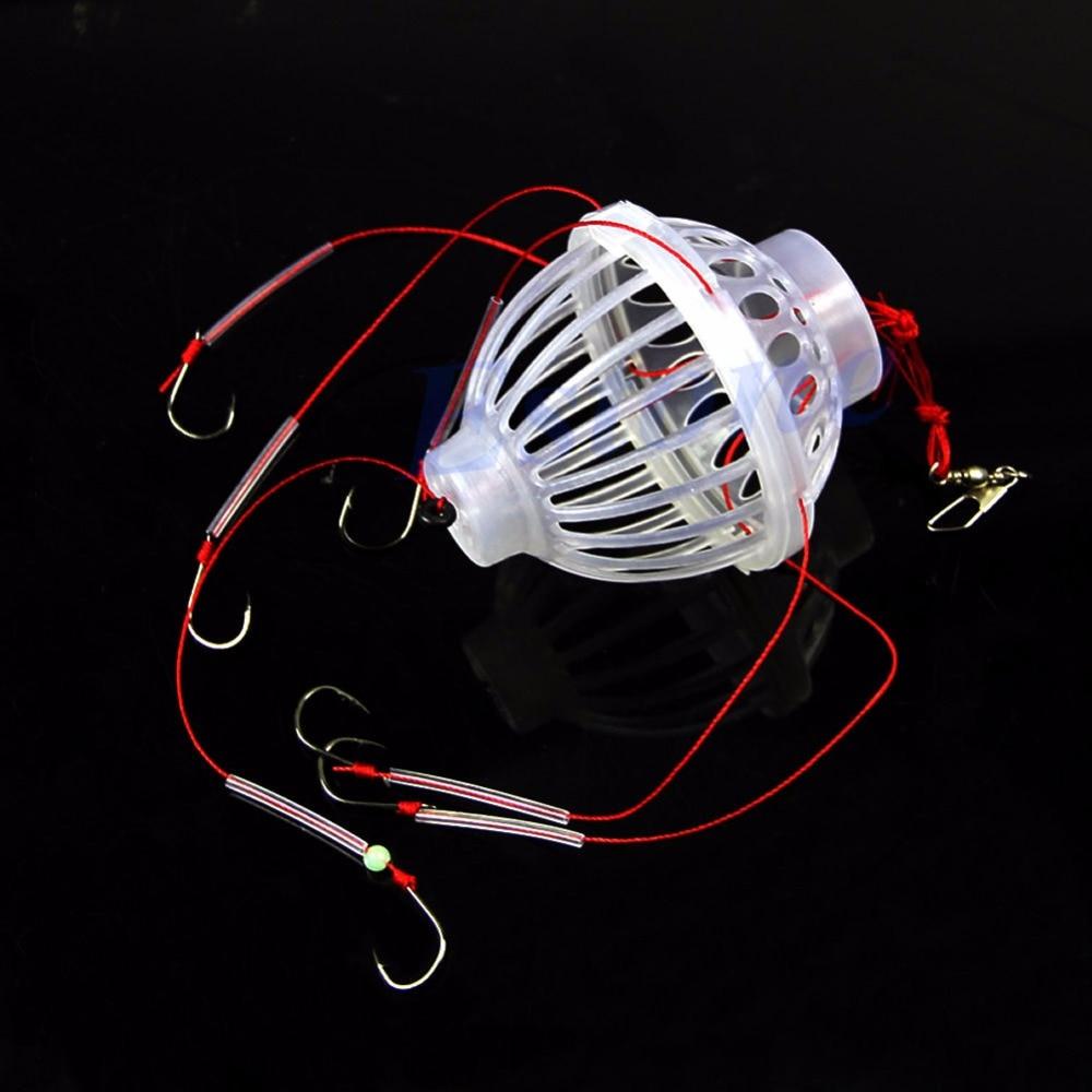 """B39 """"5 unids/lote de plástico 6 en 1 caja de carnada de linterna, explosión de espino, anzuelo de pesca, aparejo de pesca"""