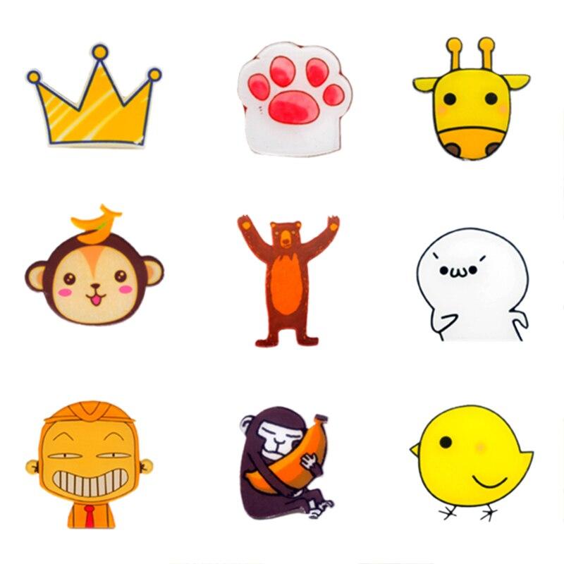 Plátano mono Panda pollito personaje de dibujos animados insignia pin broche iconos insignias mochila DIY iconos insignias para ropa insignias de acrílico