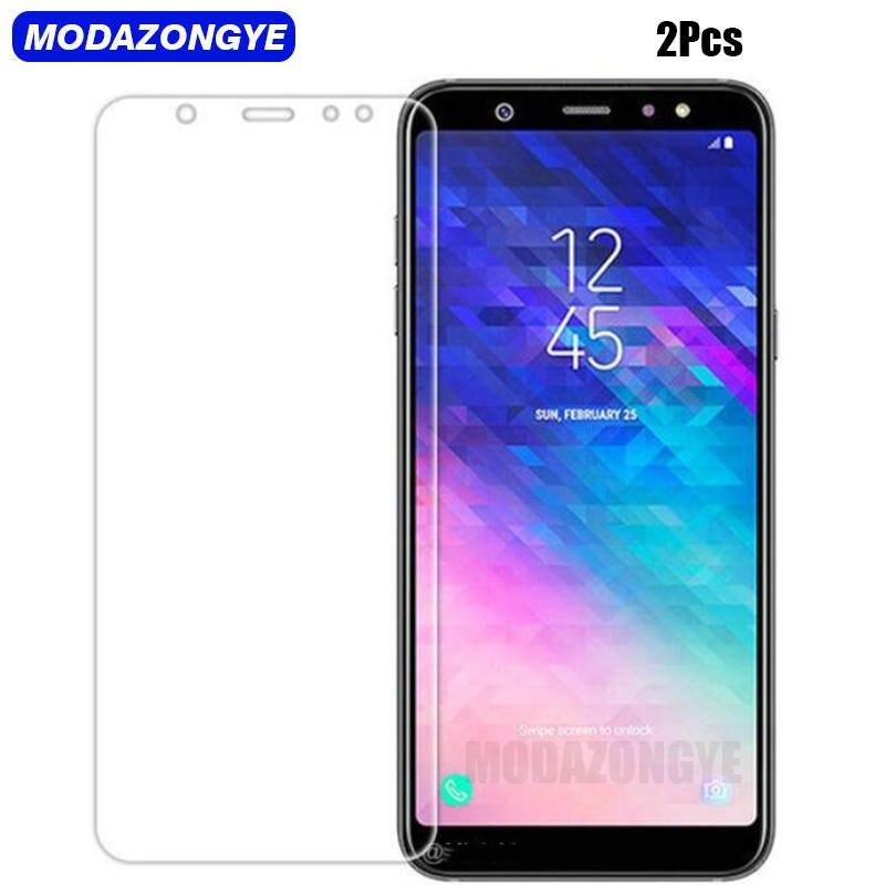 2 piezas para Samsung A6 Plus 2018 de vidrio templado Samsung Galaxy A6 + Plus 2018 Duos SM-A605FN/DS A605 película protectora de pantalla de vidrio