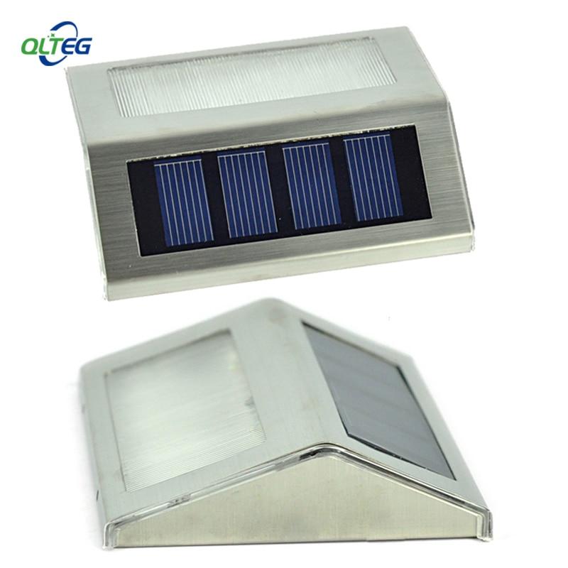 Solar Power Led Im Freien wasserdichte Led-licht-garten-bahn Treppe Lampe Licht Energiesparende LED Solar-wandleuchten Warmweiß kaltweiß