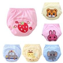 Bebé Pantalones cortos Niño, niña, pantalones de entrenamiento de dibujos animados de algodón, pañales reutilizables para niños, ropa interior para niños, bragas para recién nacidos CN
