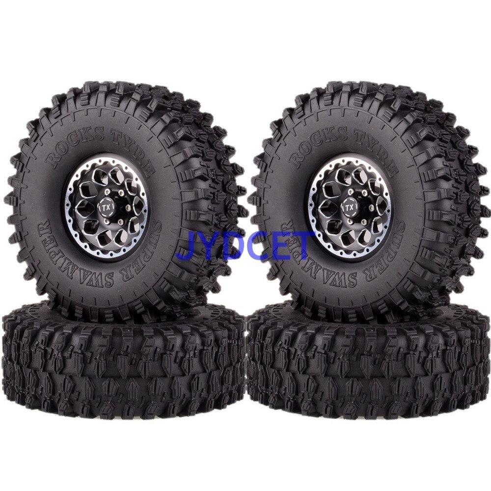 """4 Uds. Llantas de rueda de 1,9 """"y 120mm neumáticos Super Swamper 1065-7037 para RC 1/10 modelo Rock Crawler TRX-4 CC01"""