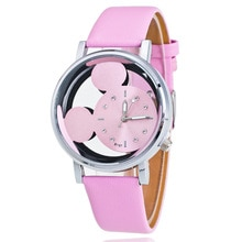 Mickey Mouse Watches with double-sided hollow Children's Watch For Student Boys Girl Cartoon Disney