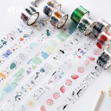 Wonderful World Washi Tape Diy Scrapbooking Sticker Label Masking Tape Office Supply Gift Stationery