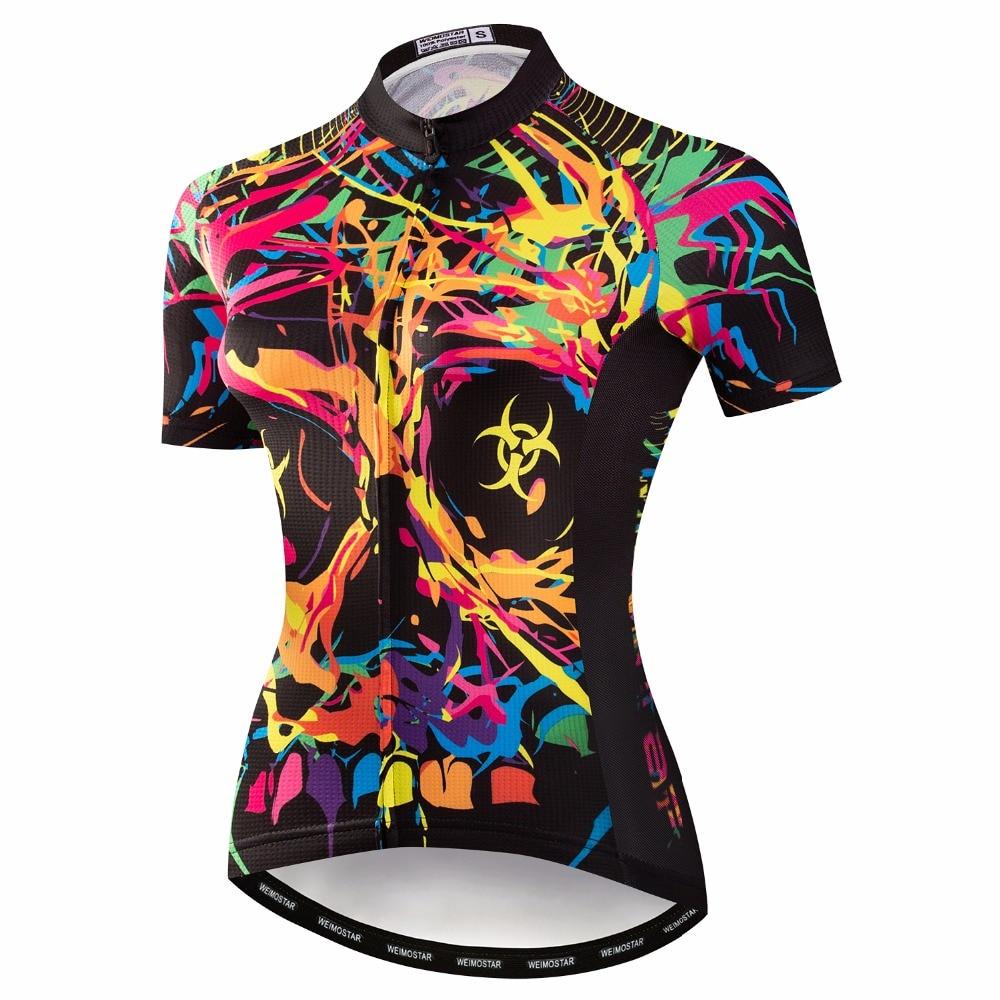 Camisa de ciclismo das mulheres 2019 pro equipe maillot mtb motocross triathlon bycicle mountain bike roupas camisa wear retro engraçado roupas