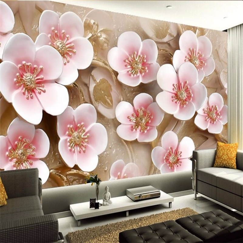 beibehang embossed magnolia pearl nordic jewelry wall papers home decor 3d flooring wallpaper for living room home improvement beibehang flooring photo wallpaper for living room decorative painting large mural wallpaper for wall 3D wall paper home decor
