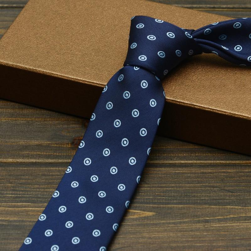 2019 New Fashion Slim Microfiber Business Ties for Men Blue 6cm Gravata Profession Office Work Corbatas Party Skinny Gift Box