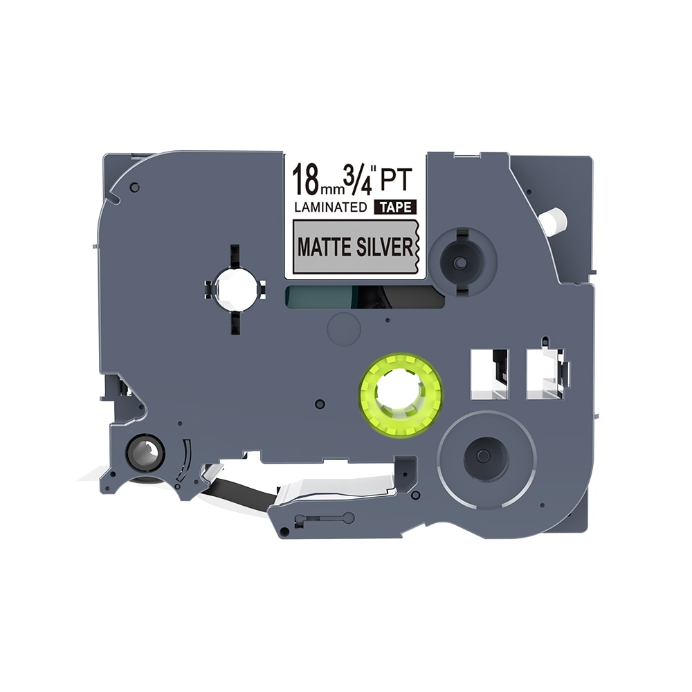 1 Uds PUTY 18mm negro en plata mate TZe-M941 tzM941 cinta de etiquetas compatible hermano PT300 350 520 táctil P etiqueta impresora