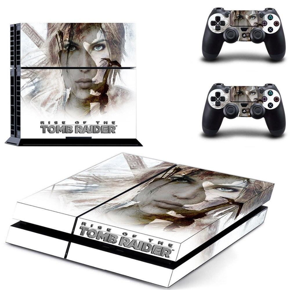 Subida de la tumba Raider PS4 piel pegatina Calcomanía para Sony PlayStation 4 consola y controlador piel PS4 pegatina vinilo accesorios