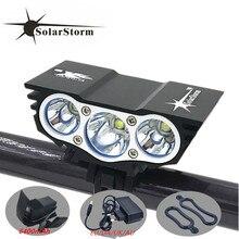 Solarstorm X3 Fahrrad 6000 Lumen 4 Modus XM-L T6 LED Radfahren Vorder Licht Batterie Pack + Ladegerät