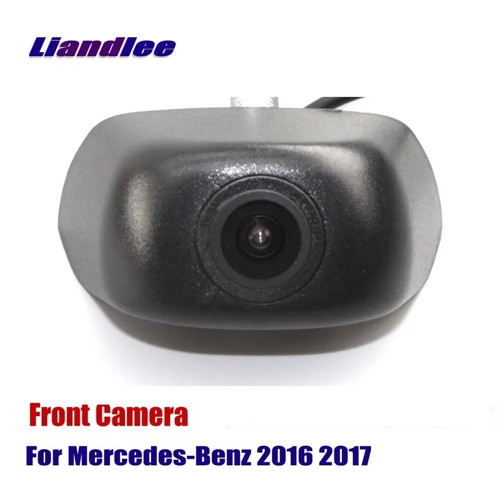 Caméra de vue avant pour voiture avec Logo intégré pour Mercedes Benz 2016 2017 (caméra de stationnement arrière non inversée)