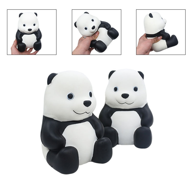 New pu slow rebound toy squishy big panda early education show decompression squeeze venting toys