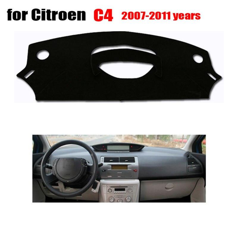 RKCA cobre esteira Do painel do Carro para Citroen C4 de idade 2007-2011 Left hand drive dashmat pad traço plataforma Instrumento acessórios