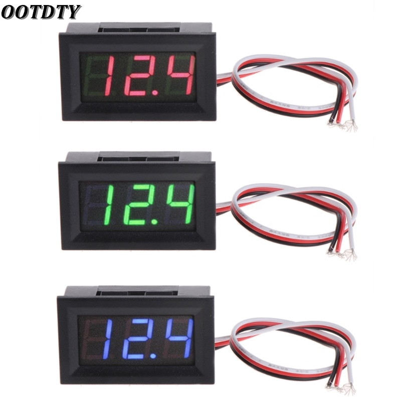 AliExpress - OOTDTY Mini Voltmeter Tester Digital Voltage Test Battery DC 0-30V Red/Blue/Green Auto Car