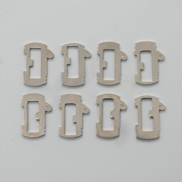 Lengüeta de bloqueo de coche placa de bloqueo para Renault Auto Kit de llave herramienta de cerrajero, Total 200 Uds (8 modelos NO1-8 cada 25 uds)
