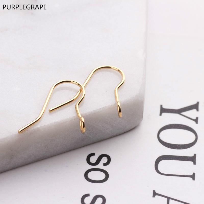 PURPLEGRAPE DIY handmade jewelry earrings basic accessories 18k minimalist ear hook material 40 pieces