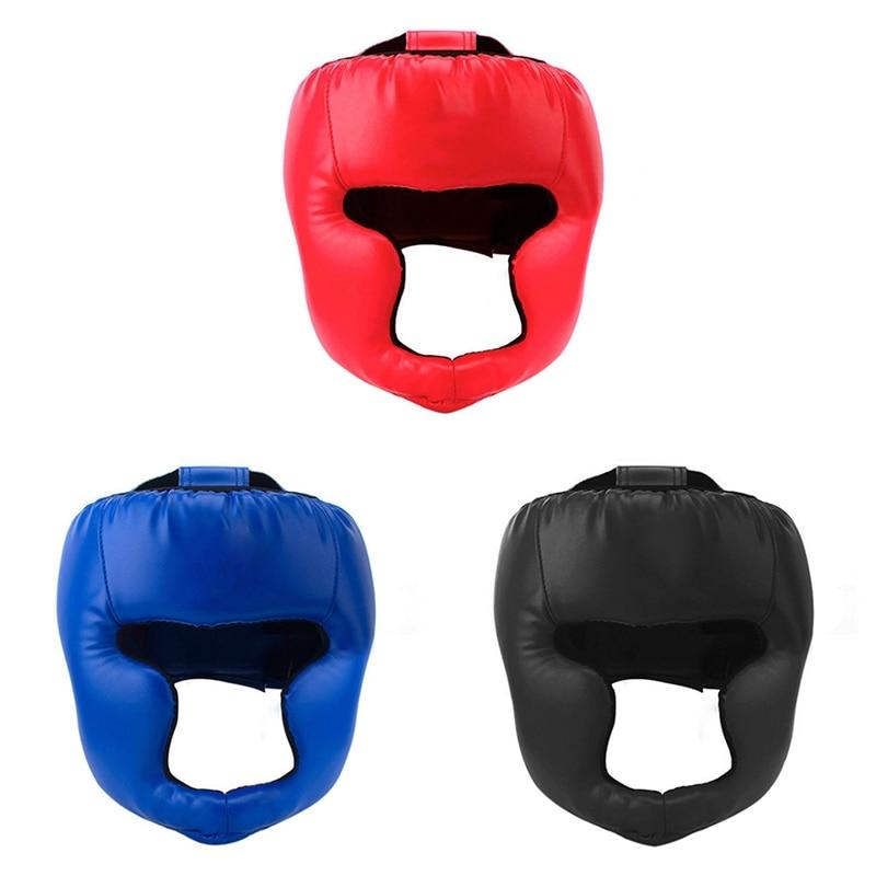 Casco protector de entrenamiento de boxeo profesional Sanda casco cerrado Muay Thai casco protector de equipo de lucha