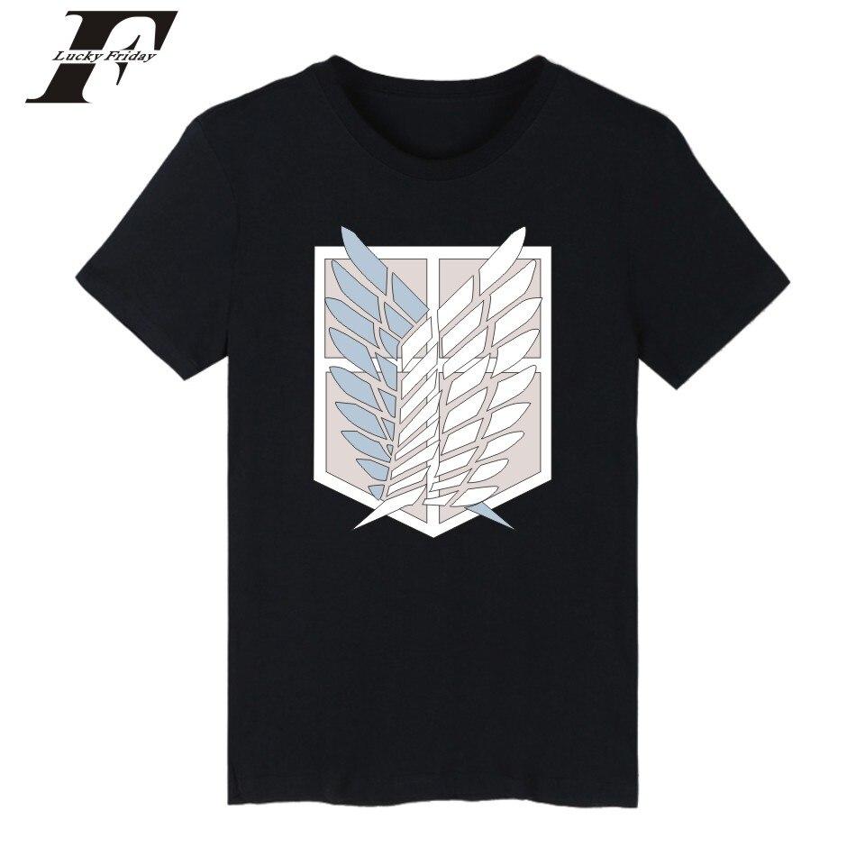 LUCKYFRIDAYF Attack On Titans Tee Shirt Men Japan Popular Anime Fashion T Shirt Men Short Sleeve Casual Funny Cartoon Top Tshirt