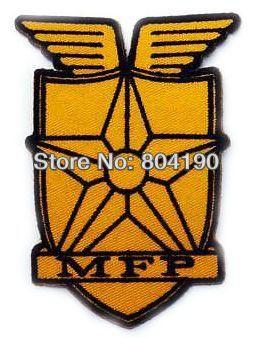 """MAD MAX """"MFP"""" principal patrulla uniforme logotipo bordado hierro en parche Emo-gotico ropa Punk Rockabilly bordado de prendas de vestir"""
