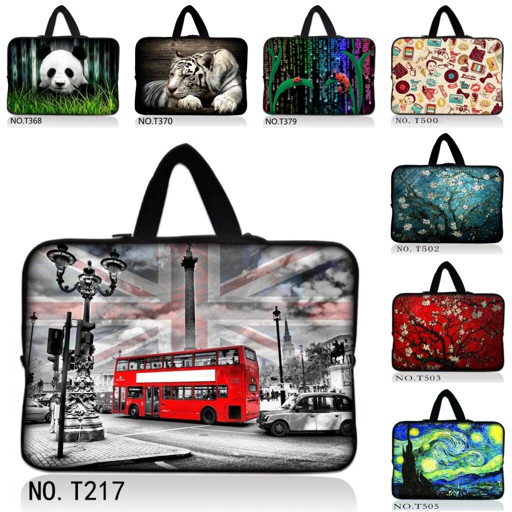 "Bolsa de transporte londinense Bus 10 12 13 15 17 pulgadas funda de mano para ordenador portátil tableta notebook cubierta suave 13,3 ""15,6"" bolsa de ordenador netbook"