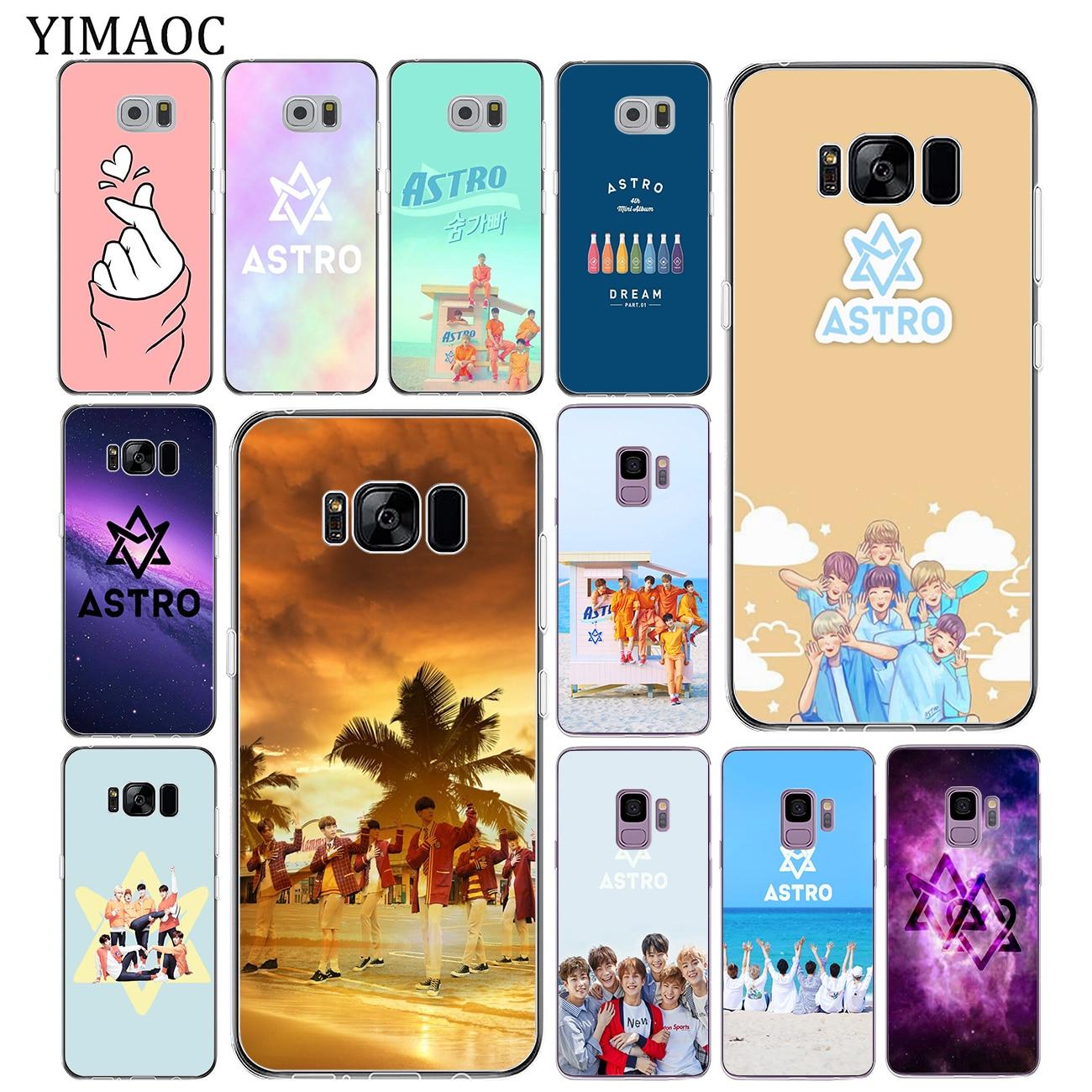 YIMAOC KPOP ASTRO Soft Tpu funda de silicona para teléfono Samsung Galaxy S10 S9 S8 Note 10 Plus S7 Edge S10e funda trasera transparente
