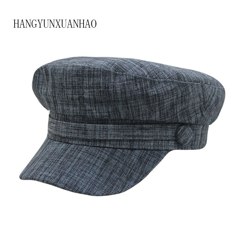 2019 Ladies Hats Women Summer Hat Octagonal Flat Cap Spring and Autumn Cotton Female Navy Hats for Women Cap Hat Woman