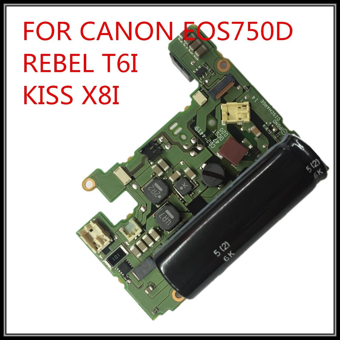 100% nueva placa de alimentación original para canon EOS 750D Rebel T6i Kiss X8i 750D Reparación de cámaras DSLR envío gratis
