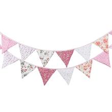 Banderole et cloche en papier 3.2m   12 drapeaux, banderole à fleurs nordiques, fanion, décoration pour fête danniversaire ou mariage