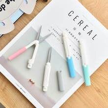 Ciseaux de papeterie efficaces ciseaux portables ciseaux pliants couleur bonbon pour enfants ciseaux de sécurité artisanat fournitures de Scrapbook