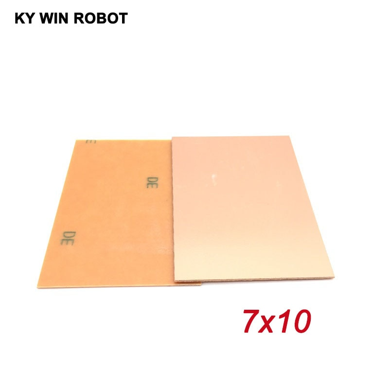 5 шт. PF PCB 7*10 односторонняя медная плакированная пластина DIY PCB Kit ламинатная печатная плата 7x10 см