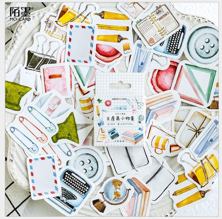 46 unids/pack estudio Accesorios de escritorio herramienta de aprendizaje Deco Planner pegatinas DIY álbum de recortes diario sello índice pegatinas escolar