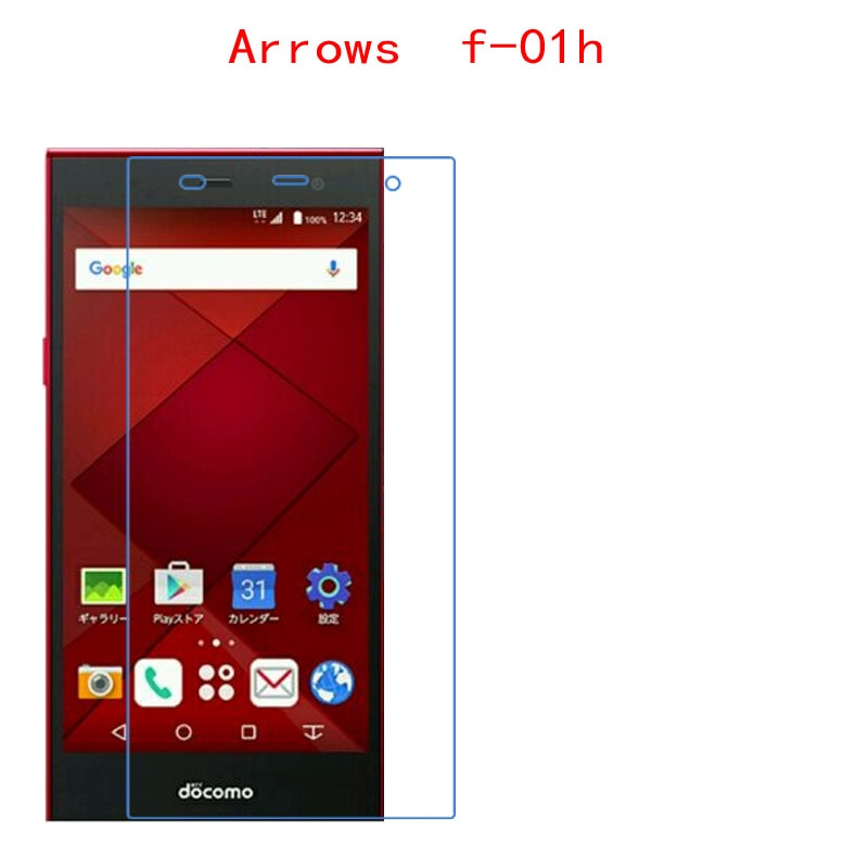 (2-Pack) For Fujitsu Arrows f-01h Carbon Fiber 9H  Plexiglass Screen Protector