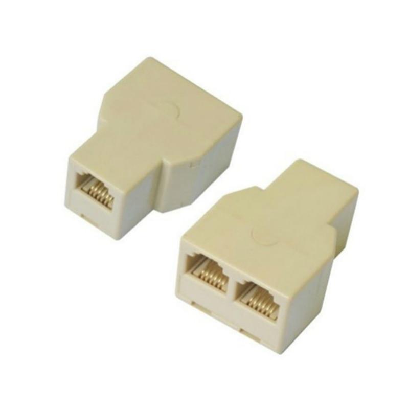 5 piezas RJ45 del conector del divisor CAT5 LAN Ethernet Splitter adaptador 8P8C red Extender Plug Coupler