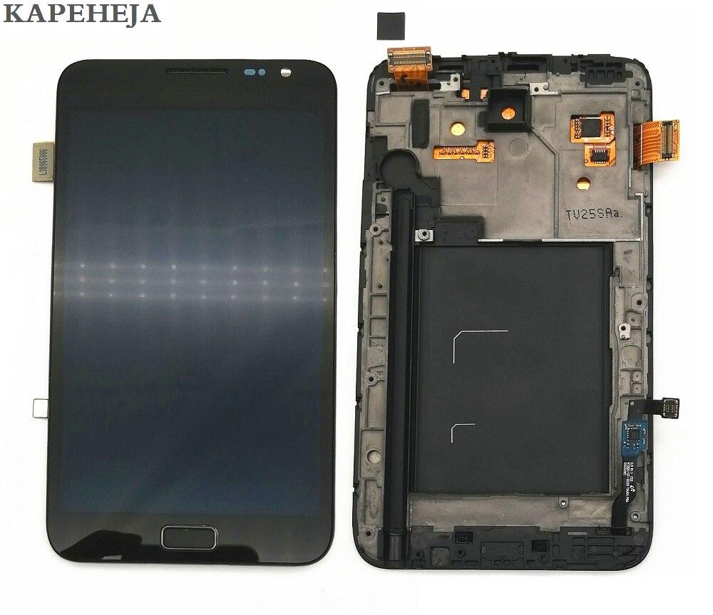 Super AMOLED LCD pantalla para Samsung Galaxy nota i9220 N7000 pantalla LCD de montaje de digitalizador con pantalla táctil