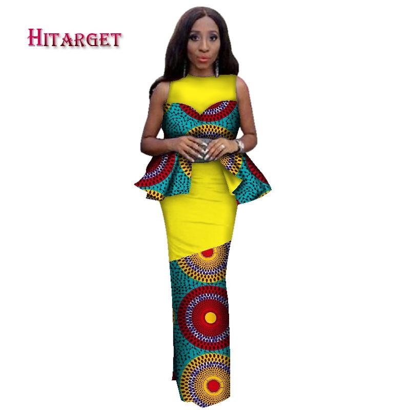 Hitarget 2019 Новый дизайн африканские богатые платья Bazin для женщин традиционное