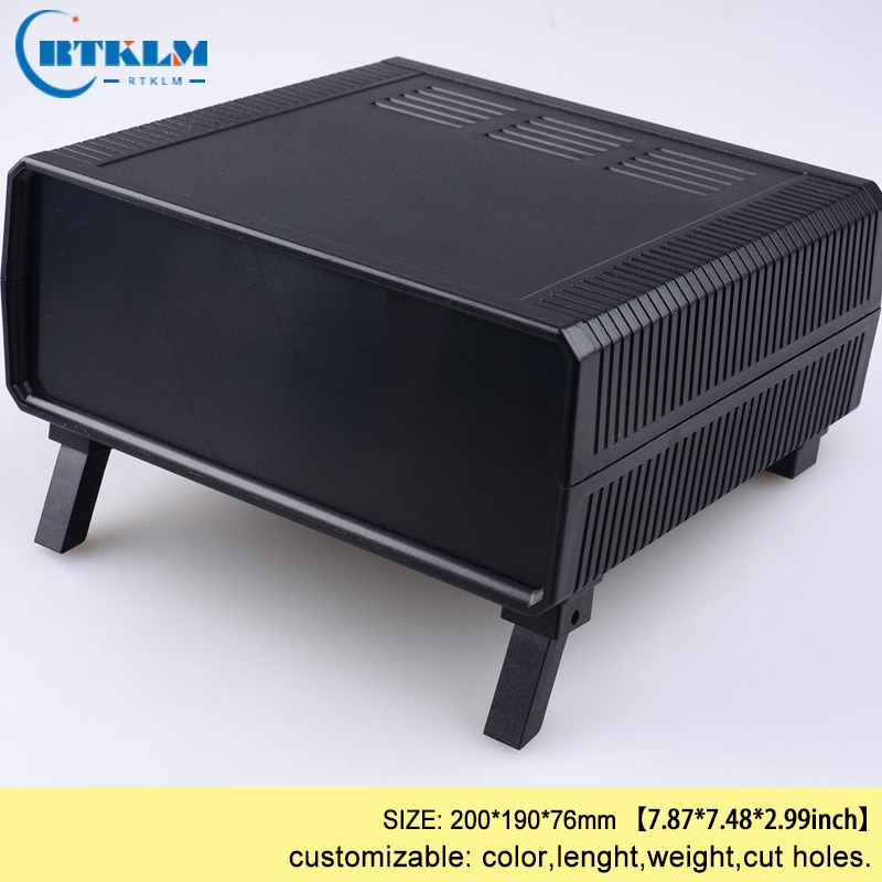 Carcasa de plástico ABS para electrónica caja de instrumentos diy caja de distribución, carcasa 200*190*76mm